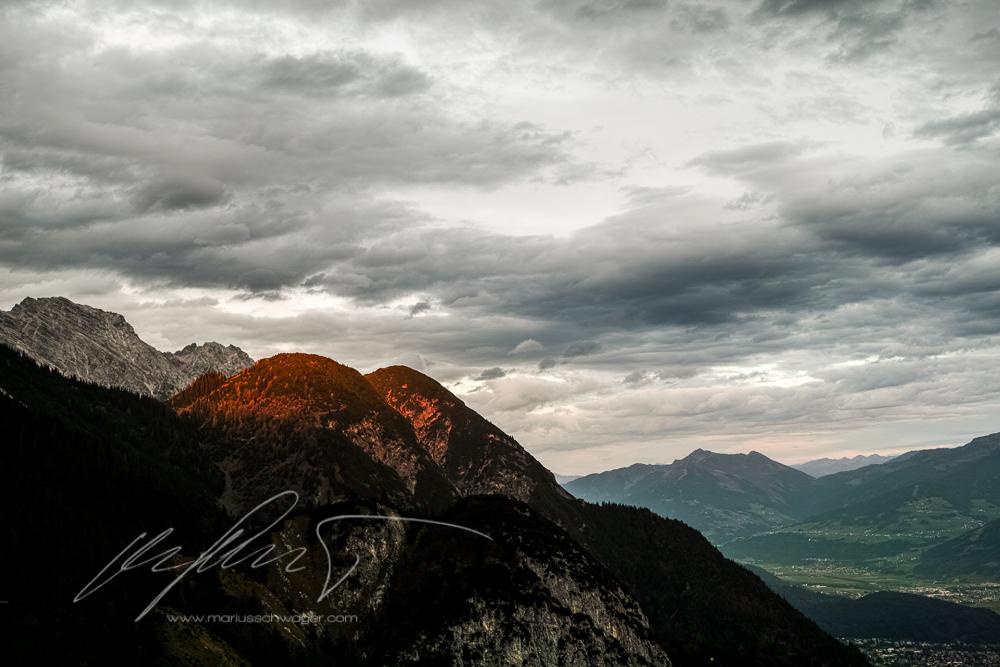 Bike, Innsbruck, Tirol, Wanderweg, Herbst, Herbsttag, Inntal, Sonnenuntergang
