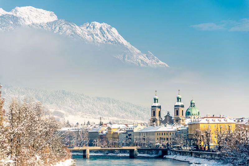 Innsbruck, Nordkette, Postkarte