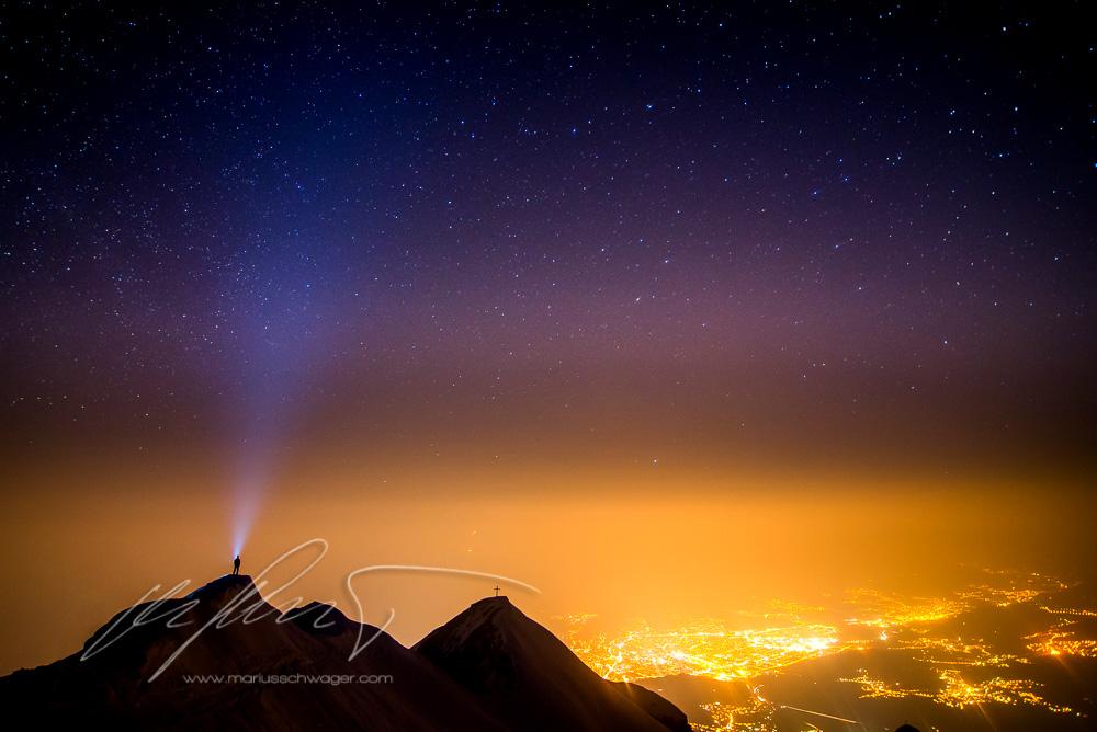 Innsbruck, Stars,sterne, sternenhimmel, camping, wintercamping, foto, mountains, berge, zelten