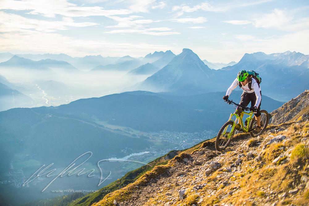 mtb, mountainbike, radon, marmot, down skis, bike, innsbruck, seefeld, herbst, autukn, herbstfarben, inntal, inn valley, rosshütte, nördlinger hütte
