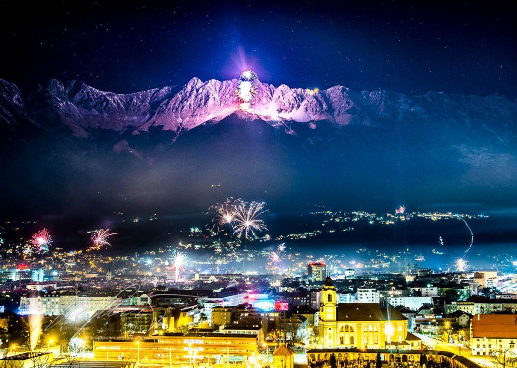 silvester, nordkette, innsbruck, new years eve, fireworks, feuerwerk, tirol, österreich, best firework